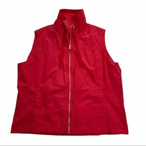 COLUMBIA full zip coral plus sized vest w/ pockets